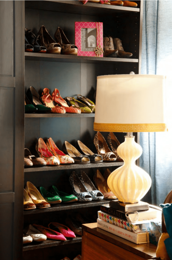 Stylish And Colorful Walk In Closet