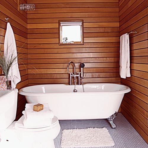 45 stylish and cozy wooden bathroom designs digsdigs Bathroom designs wood paneling