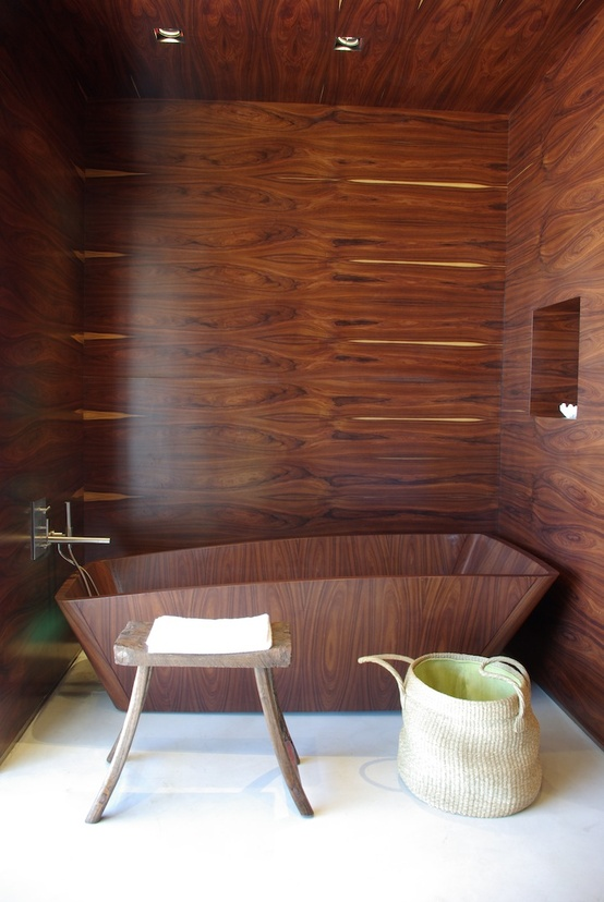 Wood Bathroom Decorating Ideas ~ Stylish and cozy wooden bathroom designs digsdigs