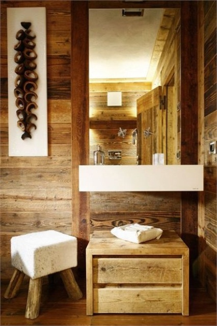 Stylish And Cozy Wooden Bathroom Designs