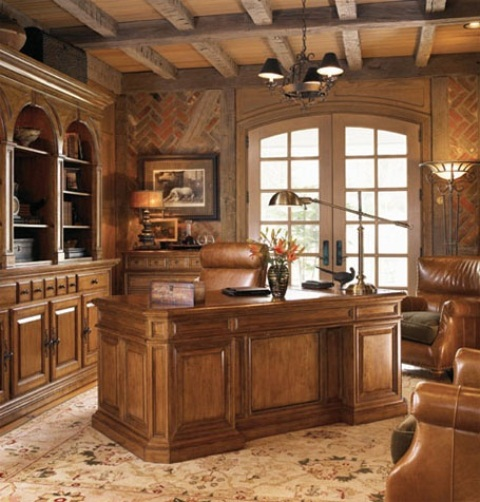 33 stylish and dramatic masculine home office design ideas digsdigs - Elegant office home design ...