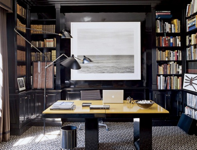 33 stylish and dramatic masculine home office design ideas digsdigs - Home office design ...