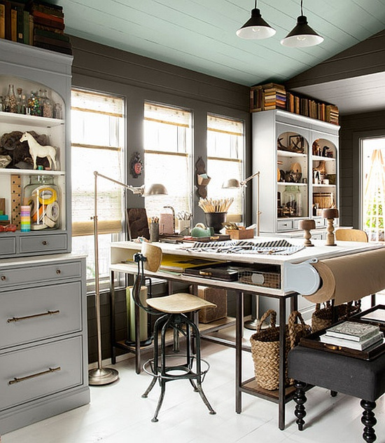 Home Office Decorating Ideas: 33 Stylish And Dramatic Masculine Home Office Design Ideas