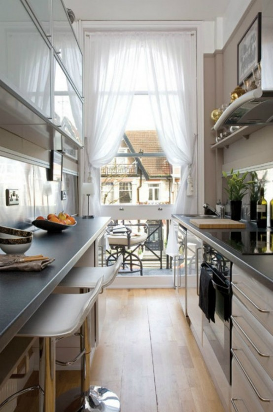 Superbe Stylish And Functional Super Narrow Kitchen Design Ideas