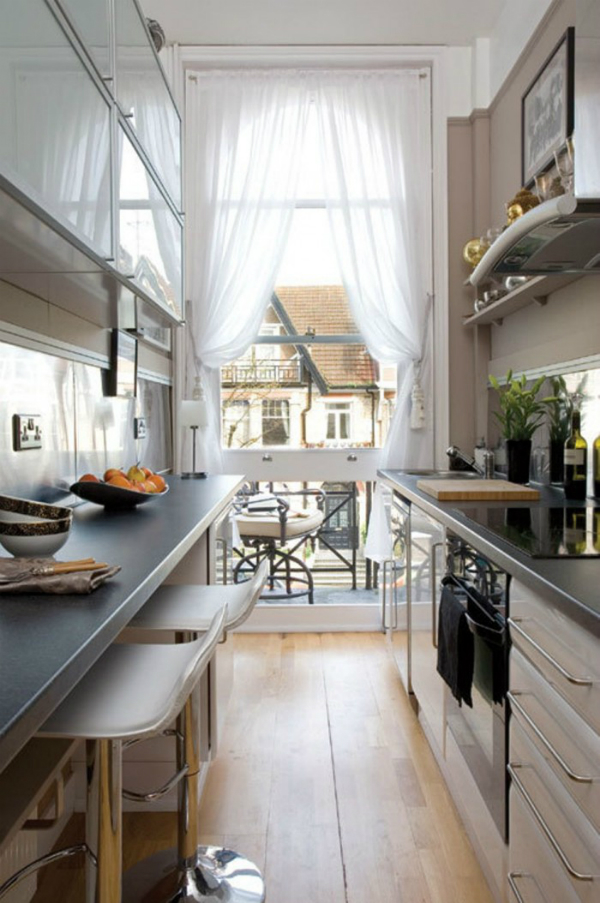 Picture Of Stylish And Functional Narrow Kitchen Design Ideas 12