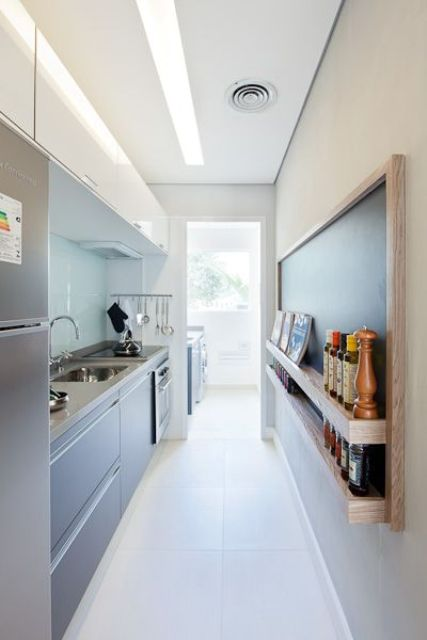 narrow kitchen design. Stylish And Functional Super Narrow Kitchen Design Ideas 31  DigsDigs