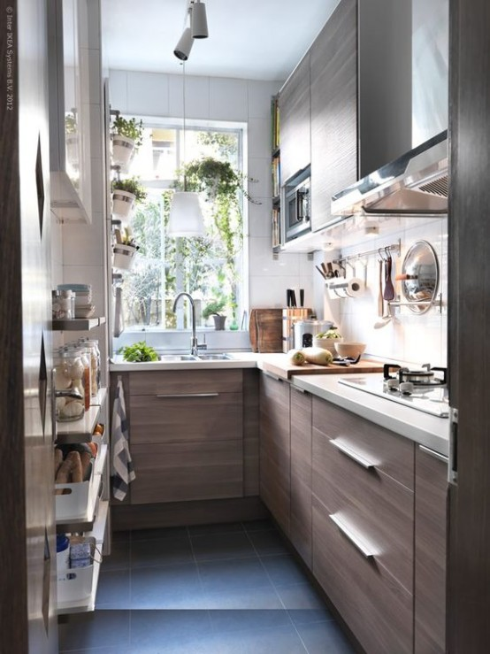 Stylish And Functional Super Narrow Kitchen Design Ideas 31  DigsDigs