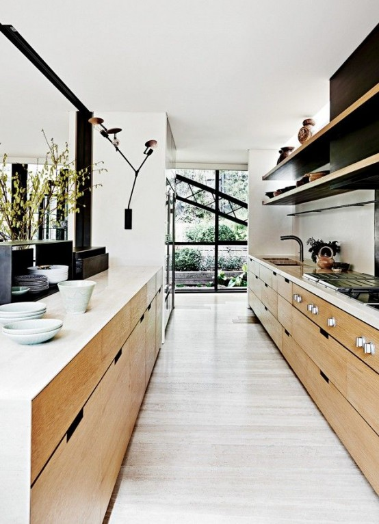 Inspirational Stylish And Functional Super Narrow Kitchen Design Ideas