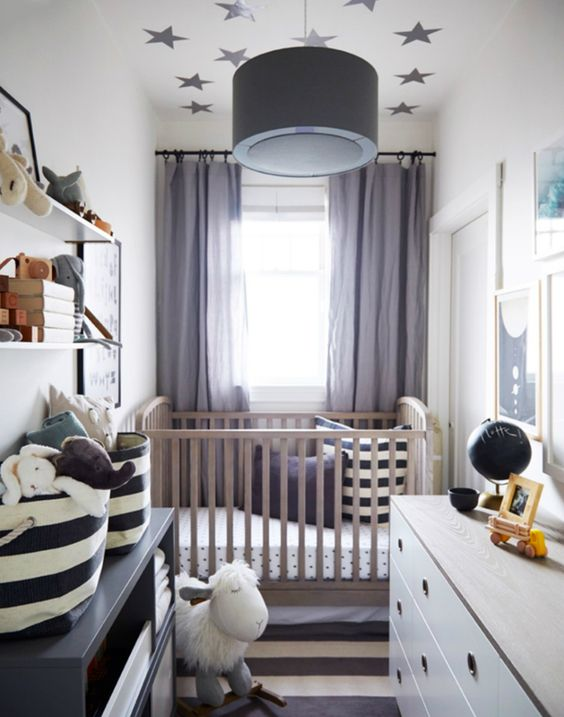 25 stylish and inspiring boy nursery designs to try digsdigs - Amenagement chambre bebe petit espace ...