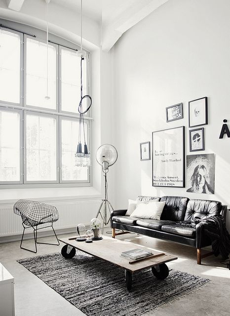 Stylish and inspiring industrial living room designs 1