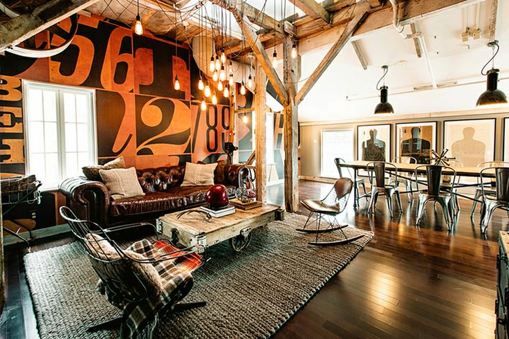 30 stylish and inspiring industrial living room designs - Decoration industrielle vintage ...