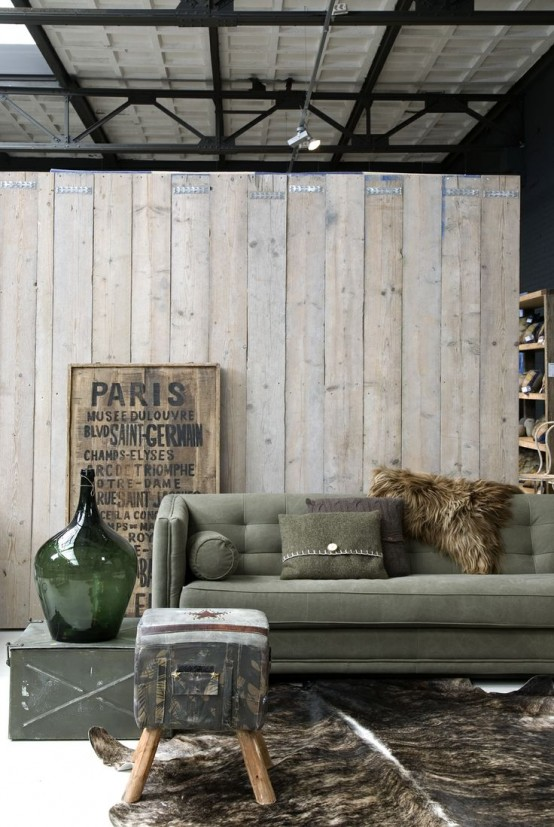 Stylish And Inspiring Industrial Living Room Designs