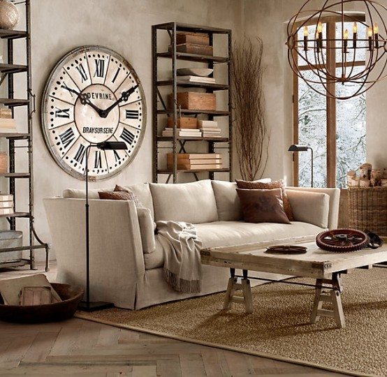 30 stylish and inspiring industrial living room designs for Industrial chic living room