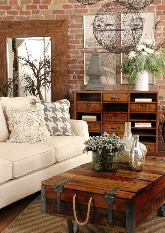 Decorating Ideas > 30 Stylish And Inspiring Industrial Living Room Designs  ~ 044522_Living Room Ideas Rustic