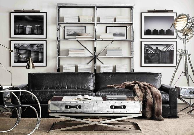 Industrial Wall Decor Ideas : Stylish and inspiring industrial living room designs