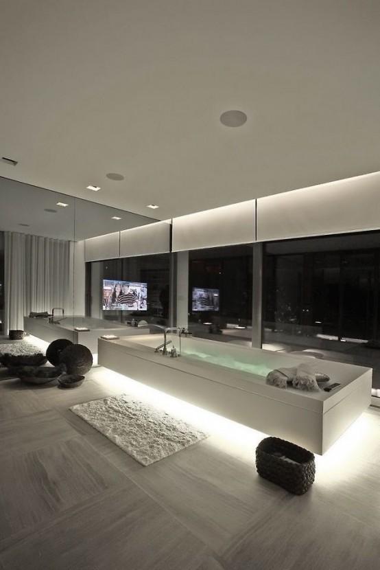 Stylish And Laconic Minimalist Bathroom Decor Ideas