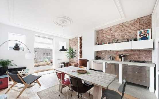 Stylish And Modern Apartment With Industrial Elements