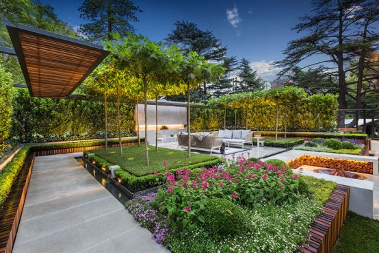 Stylish And Modern Garden Terrace Design By Nathan Burkett