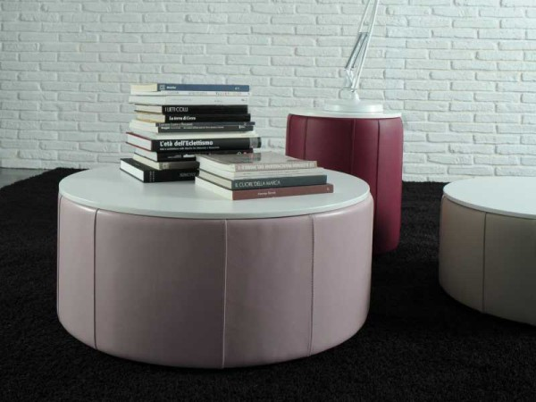Cool and Multifunctional Coffee Tables and Poufs – Rondo by Valdichienti