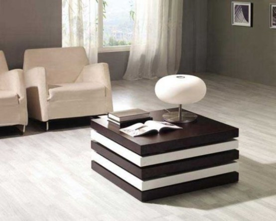 Stylish And Multifunctional Coffee Table With Compartments