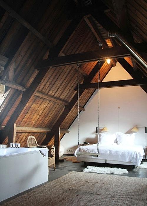 Dark Wood Living Room Furniture Gray Walls