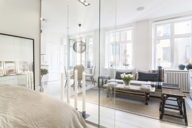 Picture of stylish and peaceful small scandinavian apartment for Small scandinavian apartment