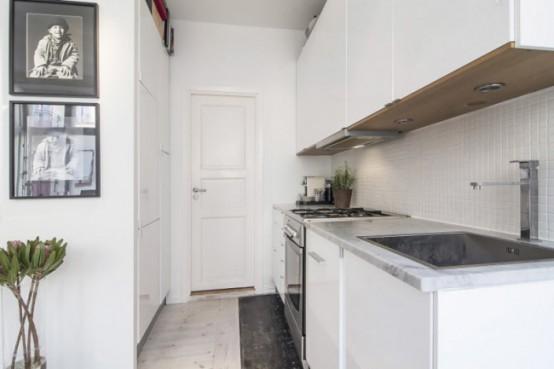 Stylish And Peaceful Small Scandinavian Apartment