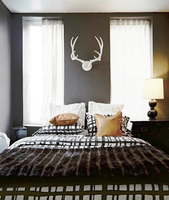 Antlers and other horns is a perfect way to add a manly touch to a room.