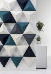 bold contemporary aircone acoustic panels will help you create a real art piece on the wall