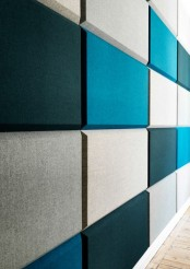 rectangular contemporary tiles in grey, black and turquoise will make your space more up-to-date and bold