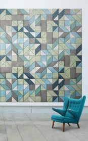 catchy geometric soudproof tiles on the wall sound proof it and create a bold wall art