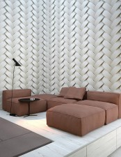 catchy patterned wall panels like these ones will be a very bold idea to cover all the walls