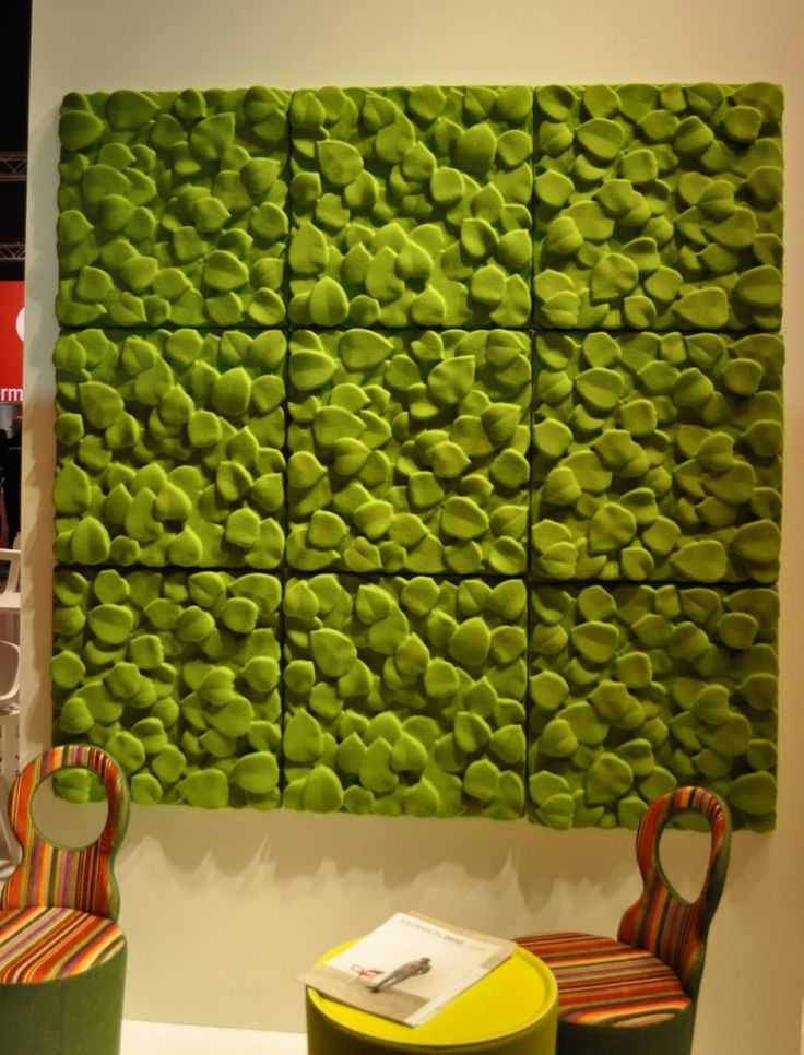 cool nature inspired green leaf acoustic panels are a chic idea to bring outdoors indoors