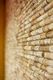 a wine cork soundproofing wall is a simple DIY project that also keeps the space warmer