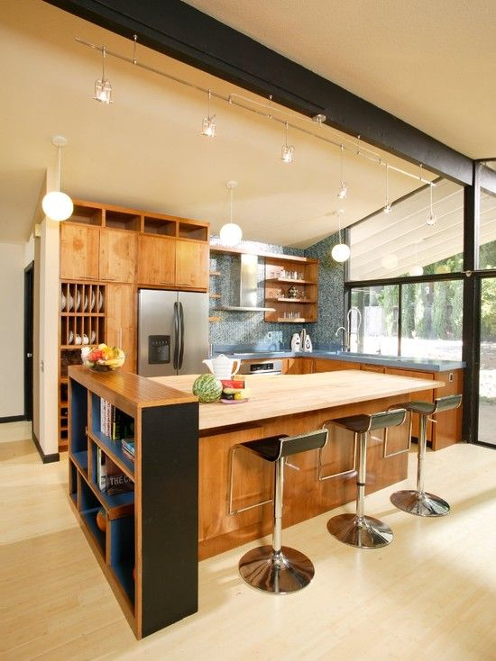 Kitchen Design Architecture Ideas ~ Stylish and atmospheric mid century modern kitchen