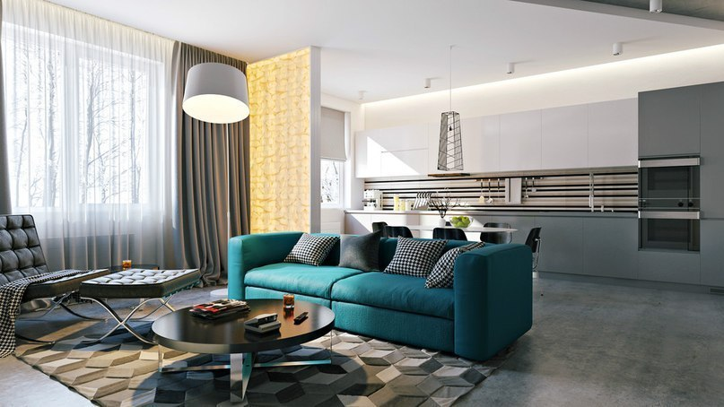 Stylish Andedgy Modern Loft Design In Grey And White
