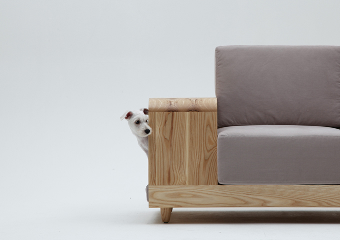 Stylish Be With Me Sofa With A Dog House | DigsDigs