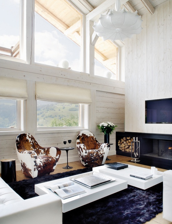 Stylish Black And White Mountain Retreat