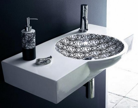 Stylish Black-And-White Washbasins Collection