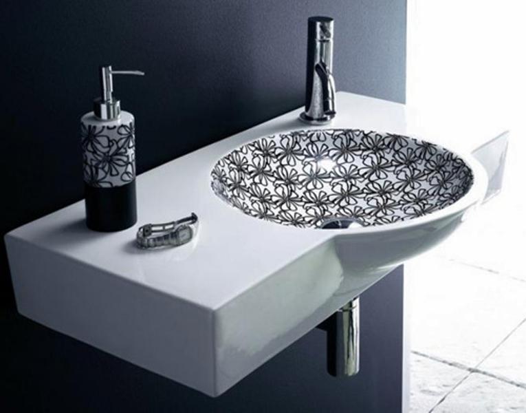 Stylish Black-And-White Washbasins Collection