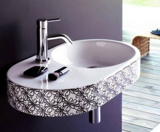 Stylish Black And White Washbasins Collection