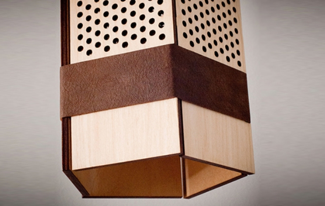 Stylish Black Penta Lamp With Perforated Sides