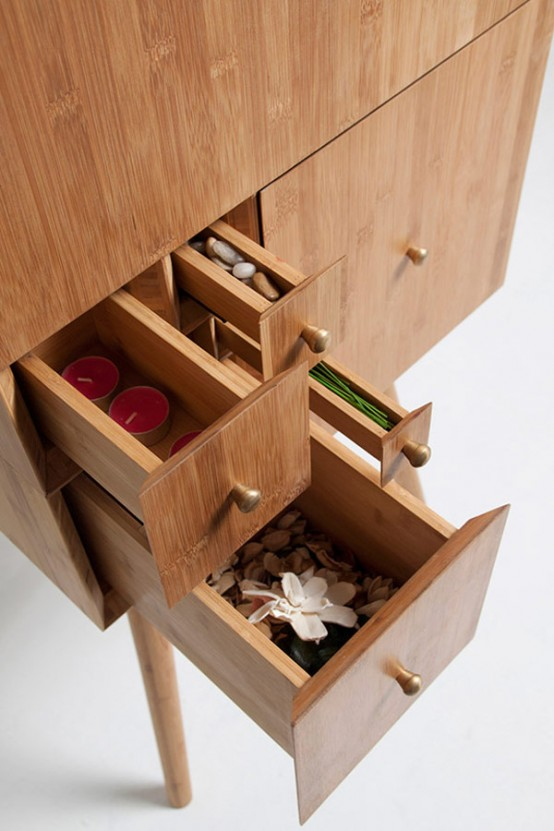 Stylish Cabinet Inspired By The Fibonacci Sequence