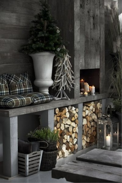 stylish christmas decor ideas in all shades of grey 36 How To Decorate A Round Coffee Table