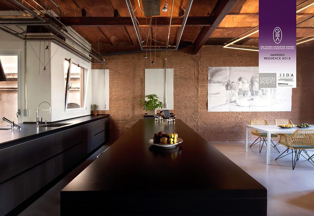 Stylish Dark Kitchen Design With Industrial Touches