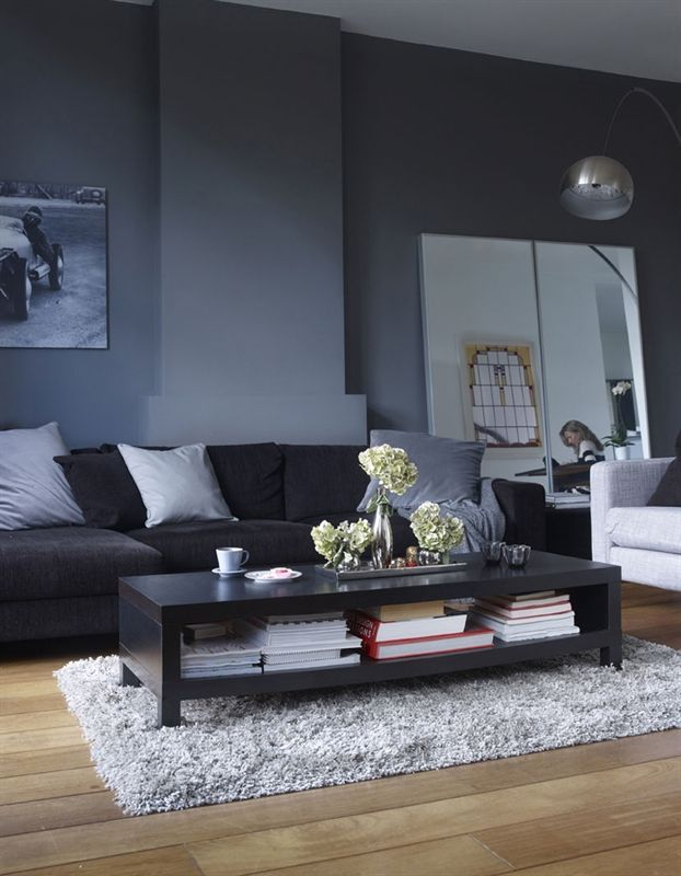 36 stylish dark living room designs digsdigs for Black and grey living room decorating ideas