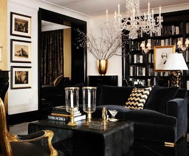 Stylish Dark Living Room Designs