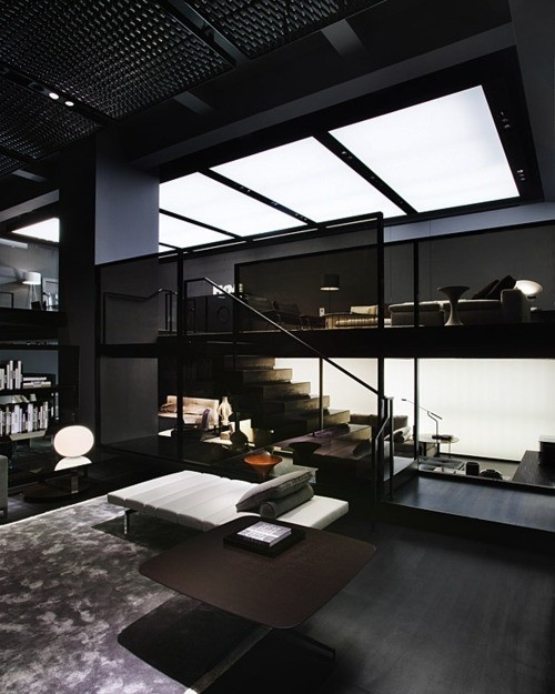 Modern Home Plans With Lofts: 36 Stylish Dark Living Room Designs