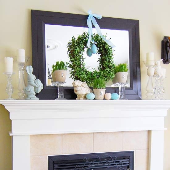 43 Stylish Easter Mantel Decorating Ideas - DigsDigs