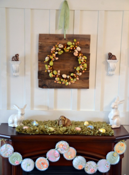 Stylish Easter Mantel Decorating Ideas Digsdigs